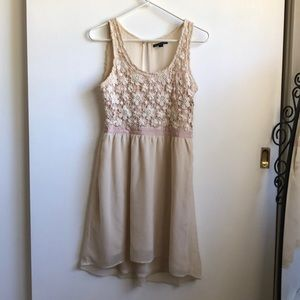 American Eagle Beige Dress with Crochet pattern